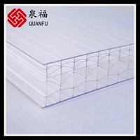 10-year warranty free sample uv plastic sheets greenhouse polycarbonate roofing panel