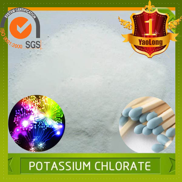 Best price for fire works and safety matchs raw material potassium chlorate kclo3 price