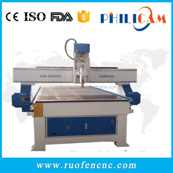 Philicam cnc router 1325 price machine for engraving wood mdf pvc