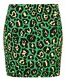 Lepord printed green color sexy design skirts and blouse