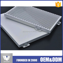 MOQ=100 high quality aluminium veneer,aluminum single board decorative perforated metal panels