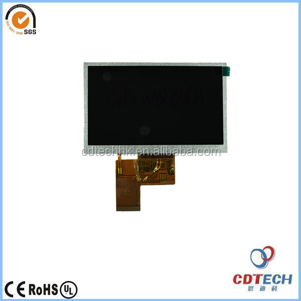 5 inch TFT LCD touch screen for in automotive with 12LEDS led backlight
