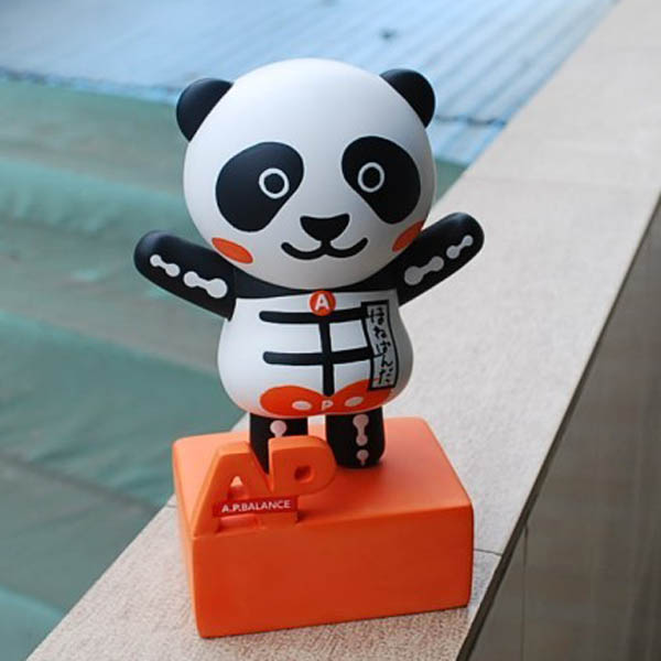 Lovely Panda Polyresin Toy Figure