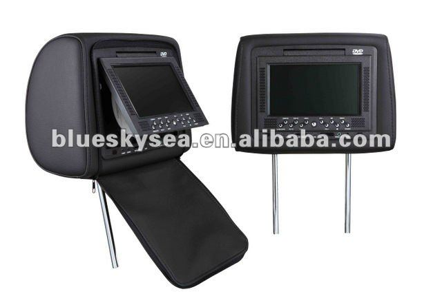 7'' Headrest car dvd Player with zipper,Car DVD Player,customized products!