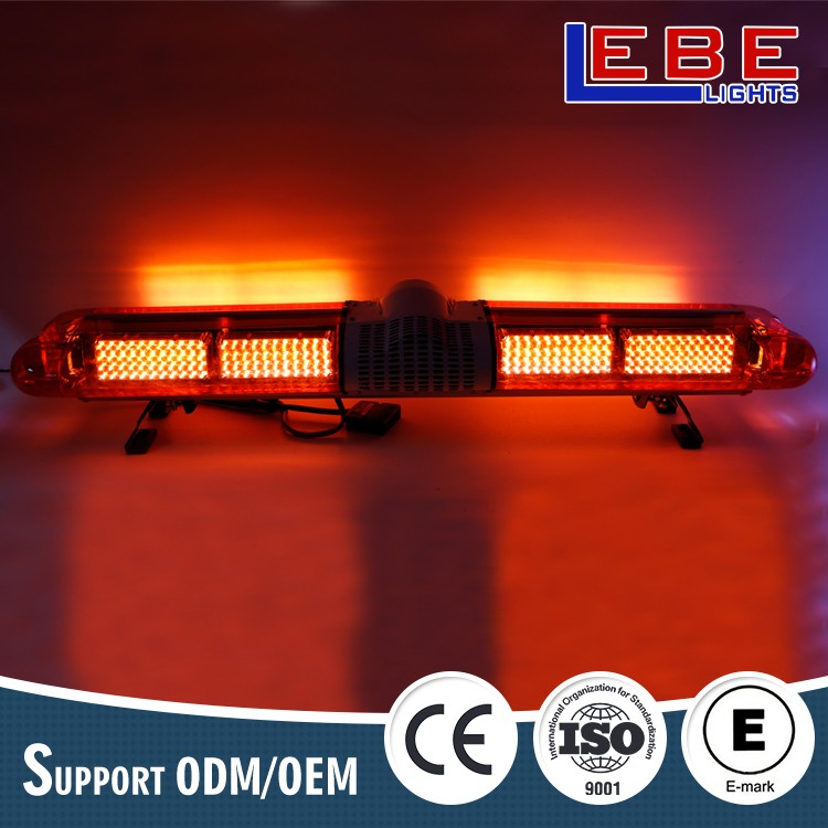 High quality full size amber warning police light bar for truck