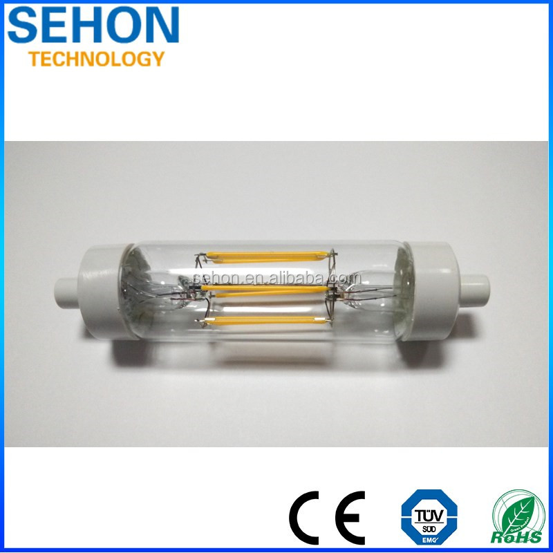 Halogen Lamp Replacement Filament R7S Led Light 6W R7S Led Flood Light