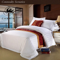 100% cotton poly cotton white Hotel Bed sheet duvet cover Nantong textile manufacture