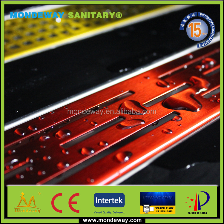 HOT SALES FOR 50x7*7cm large-traffic sus316 easy drain channel grate base fiiting mate with SHINING or BRUSHED FACE