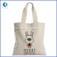 OEM order cotton canvas tote shopping bag with customized logo