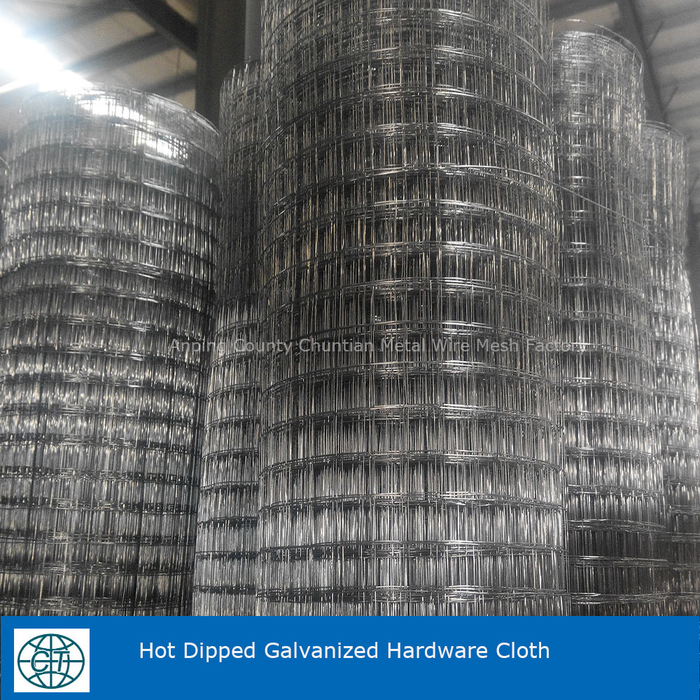 Hot Dipped Galvanized Hardware Cloth 1/4''x0.914Mx30.5M