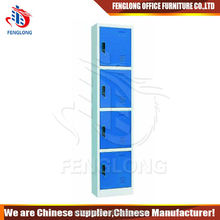 Luoyang metal furniture 4 compartment locker design 4 door locker
