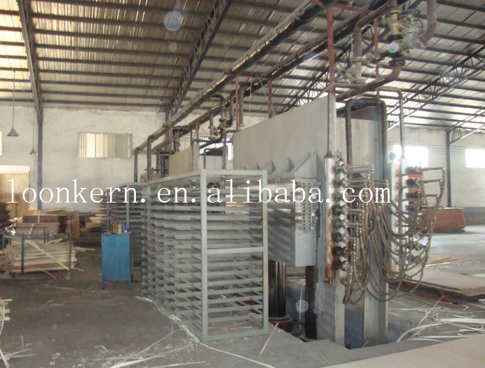 china 1250x2500mm hydraulic hot press machine for plywood making