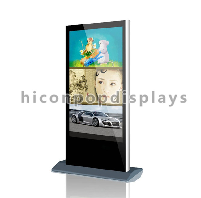 Metal Visual Merchandising Free Standing Outdoor Lcd Advertising Eyebrow Threading Kiosk For Sale