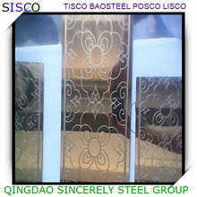 ASTM 304 316L etched stainless steel sheet for decoration , embossed stainless steel plate
