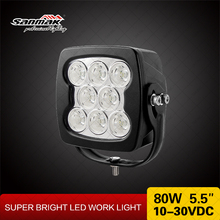 80W CREE LED work Driving Light for 4WD 4x4 off road truck SUV UTV tractor