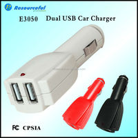 portable 5v 2.1A duble usb charger,Dual USB Car Charging Adapter for Smartphone / ipad Tablet