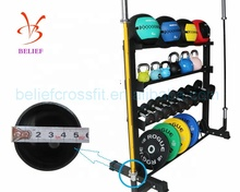 Multifunctional fitnessl gym storage rack for weight <strong>plate</strong>, dumbbell or kettlebell