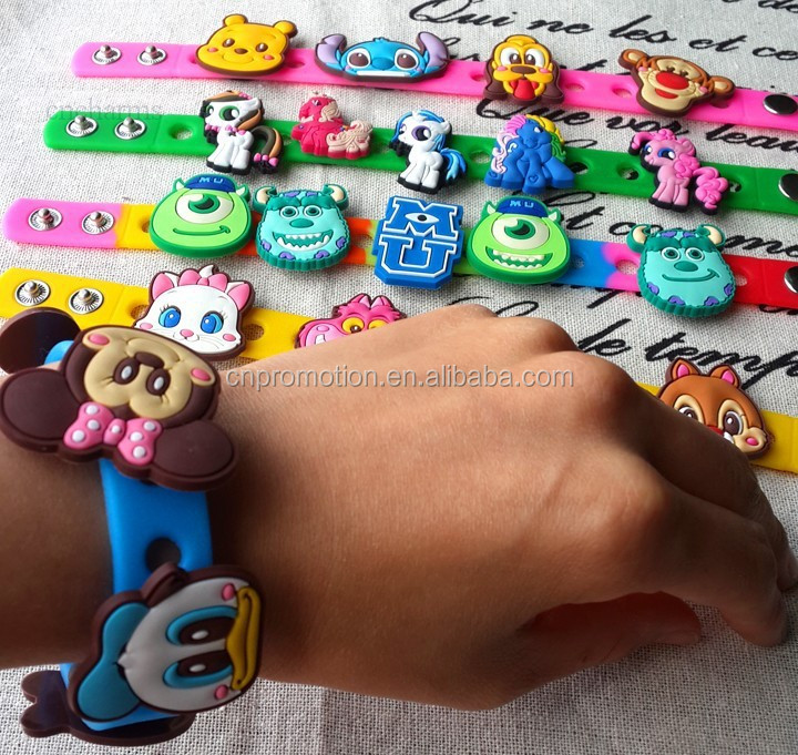 DIY Cheaper charm silicone bracelet wristband for children china manufactory alibaba
