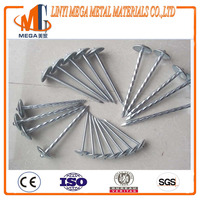 good quality point diamond umbrella head twisted shrank corrugated roofing nail made by china factory