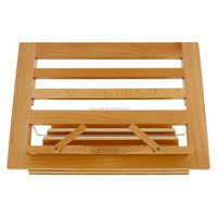 Table Easel & Book Stand wholesale 2015 new arrival adjustable bamboo book holder folding phone/ipad stand