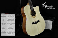 Amari cutaway Acoustic guitar AM-4188C ,acepro guitars