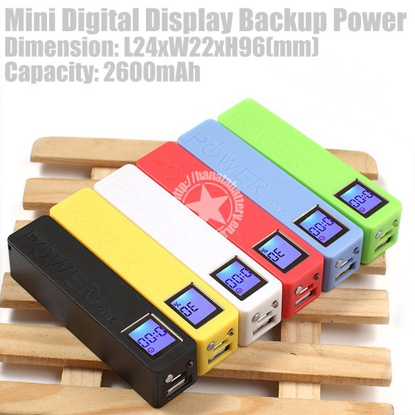 2600mAh Mini Digital Display Backup Power for Various Mobile Phones Made in China