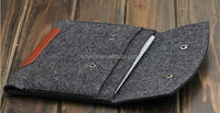 2015 Hot Sell Wool Felt & PU Leather Sleeve Case Pouch Bag For iPad 2/3/4 AIR/AIR2