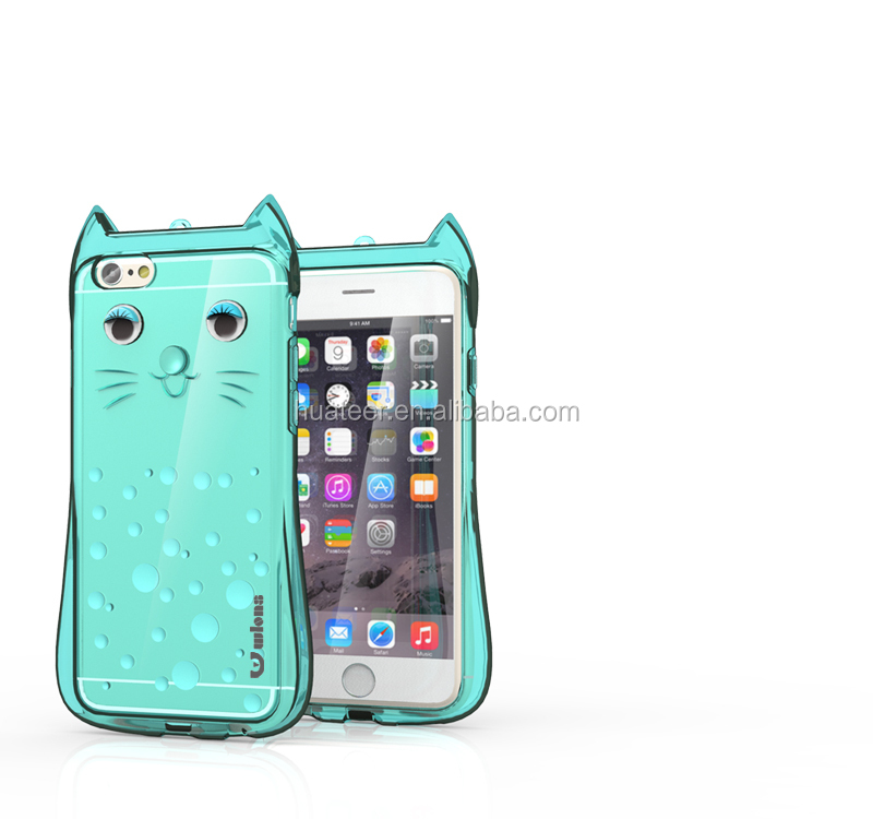 Beautiful mobile phone back cover case for iPhone 5 5s, cartoon cat tpu mobile phone case
