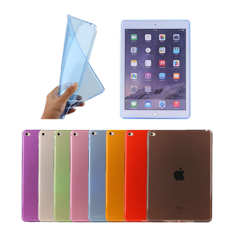 factory price transparent clear Soft TPU cover case for apple iPad air 2