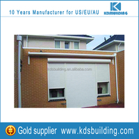 Hot sale electric operation aluminum external roller shutters