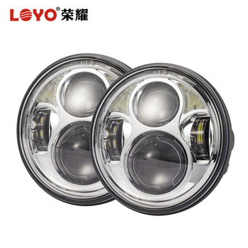 "LOYO H4 daymaker 40W 5.75"" round led headlight for Harley motorcycle headlights"