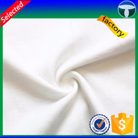 Plain white combed cotton jersey fabric