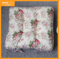 Wholesale Custom Flower Printing Chair Seat Square Outdoor Cushion Cover
