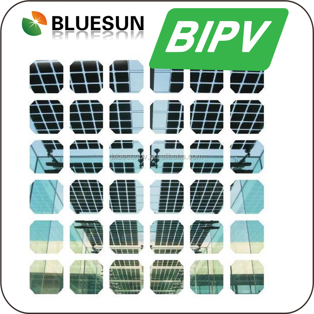 Bluesun best sale bipv solar panel china factory direct with two layers of tempered glass