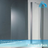 AOOC1503CL Flag shape tempered glass shower folding bath screen