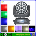 China of guangzhou 36 x 10W 4in1 RGBW LED Zoom Wash Moving Head light price