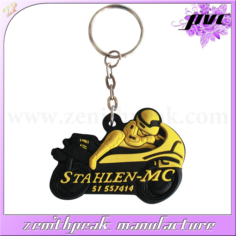 2016 Most Popular soft PVC motorcycle keychain/PVC motorcycle keyring/PVC motorcycle keyholder