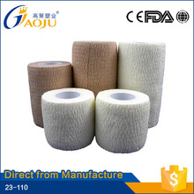 23-110 China surgical pure color hand tear full cotton material cohesive bandage, adhesive bandage, cohesive elastic bandage