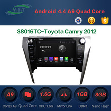 Autostereo Radio Android Car DVD Player for Toyota Camry 2012 with Bluetooth iPod Map Phonebook USB SD PIP Multi-languages