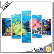 Blue sea world wholesaler cheap stretched canvas prints for house decoration