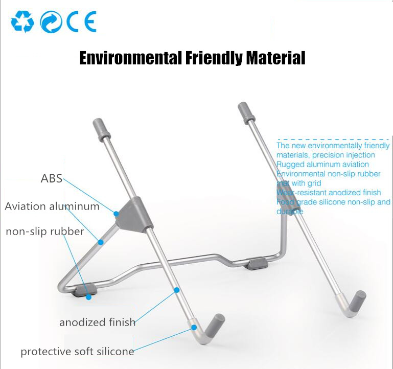 Wholesale Multifunctional Folding Portable Laptop Stand /tablet Pc Adjustable Stand Notebook Universal Metal Bracket For Laptop