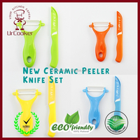 portable folding knife and ceramic peeler set