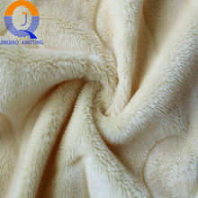 100% polyester knit warp brushed soild color 3D embossed Velvet Super Soft Fleece fabric from China