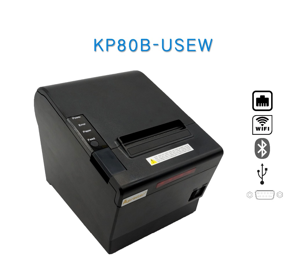 80mm android&ios bluetooth printer wifi thermal printers with auto cutter