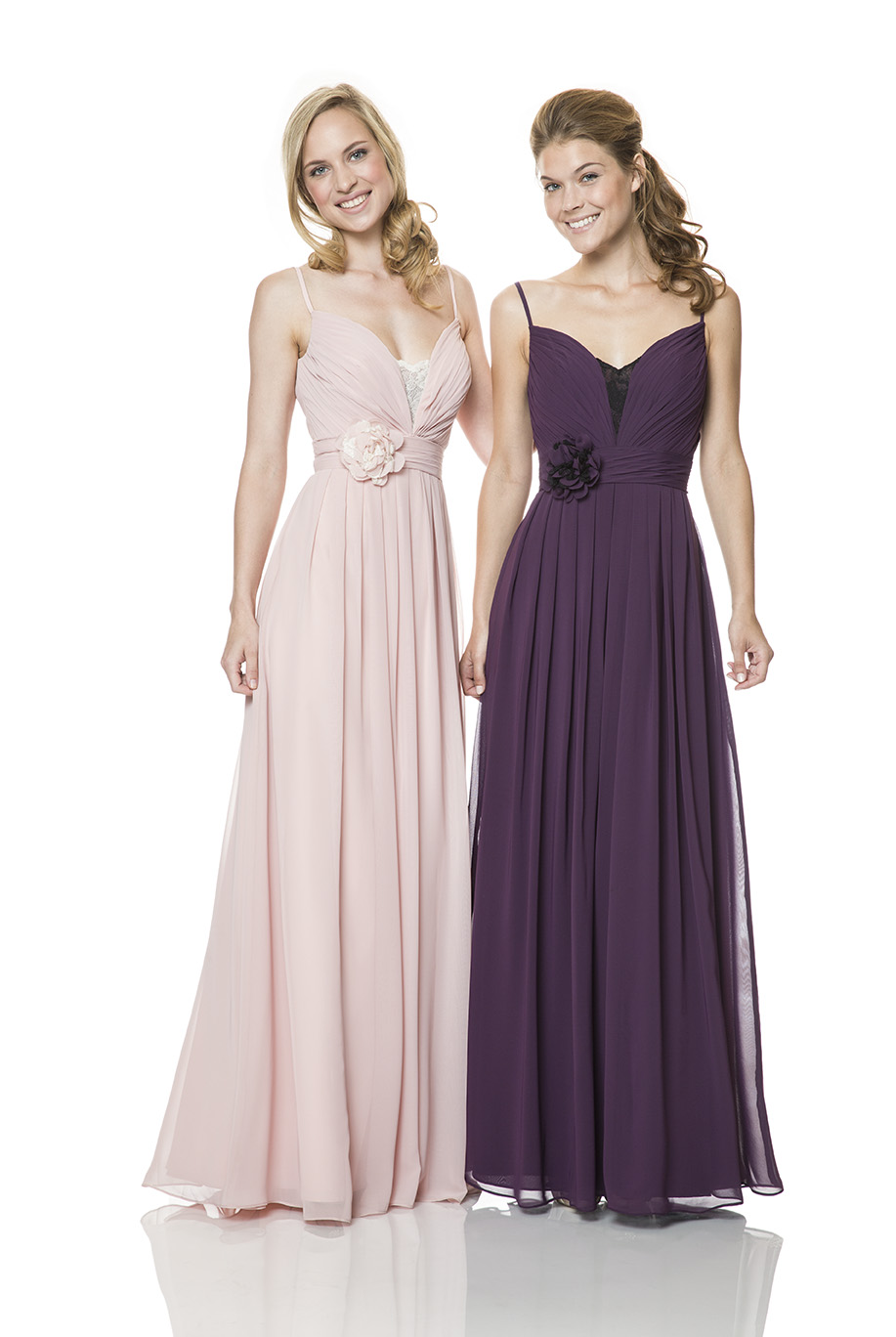 2665add26d2d Buy Spaghetti Staps Sweetheart Sleeveless Floor Length Pink Purple  Bridesmaid Dress Vestido Longo De Festa Rosa,BD051 in Cheap Price on  m.alibaba.com