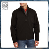 Woven shell bonded with 100%polyester fleece lined durable jacket for man