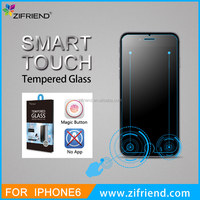 Hot selling 100% Good quality ultra clear smart touch tempered glass screen protector for iPhone 6