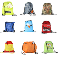 34*43cm 210D Polyester Drawstring Backpack With 1 Color Printing