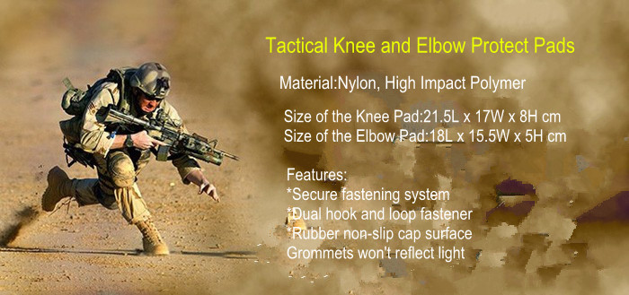 Tactical Military sport knee pads and elbow pads Protection 4piece/Set