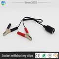 Extension socket car battery charger jump starter Battery Clips